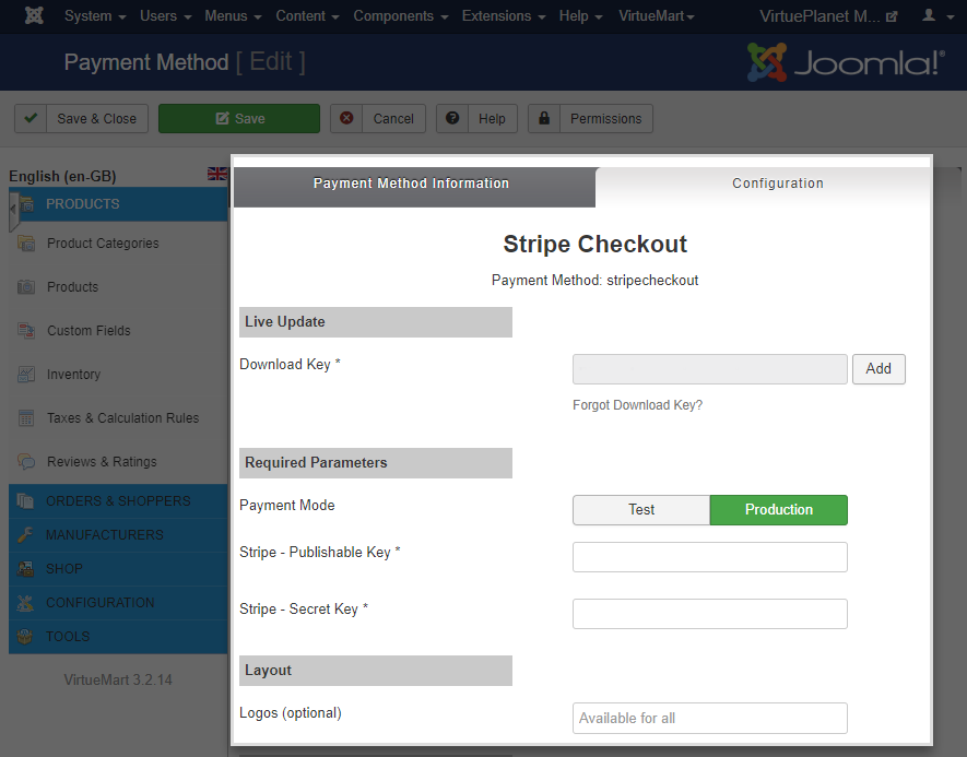 Stripe Checkout - Required Parameters