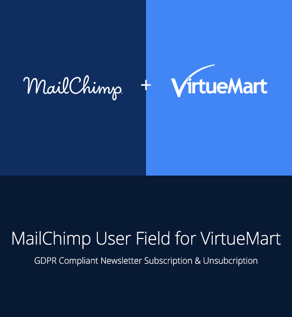 MailChimp User Field for VirtueMart