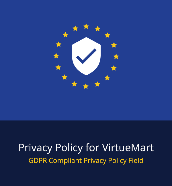 GDPR Privacy Policy for VirtueMart