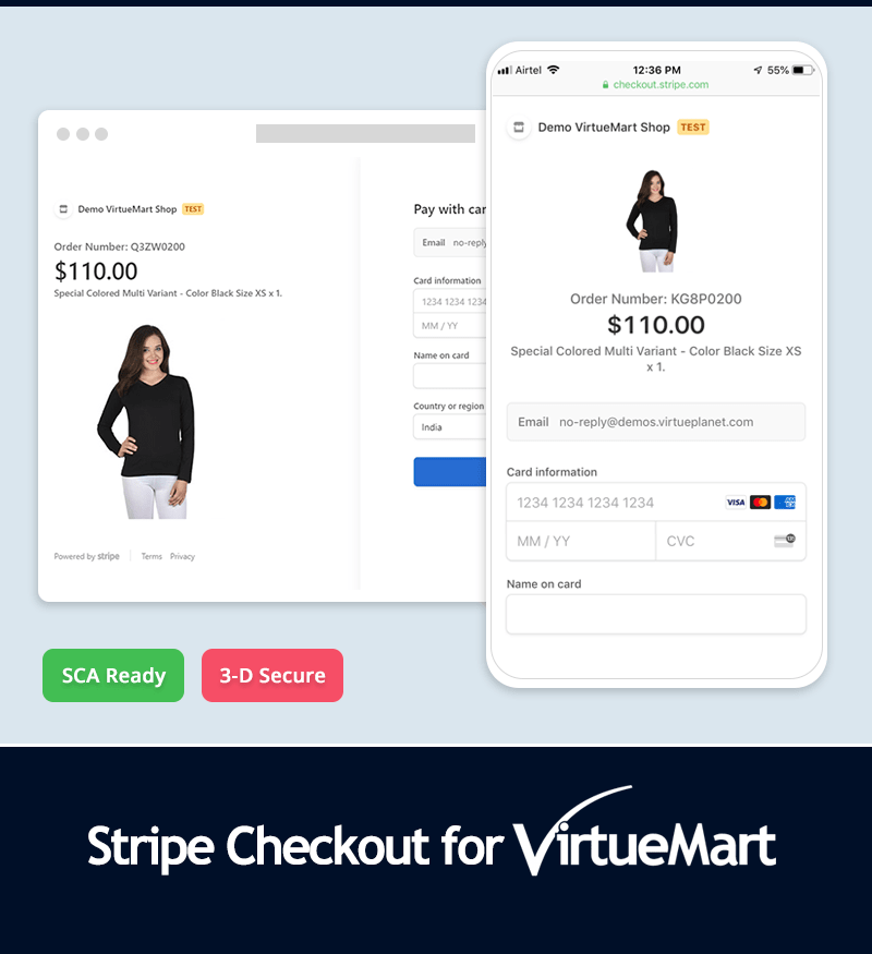 Stripe Checkout for VirtueMart