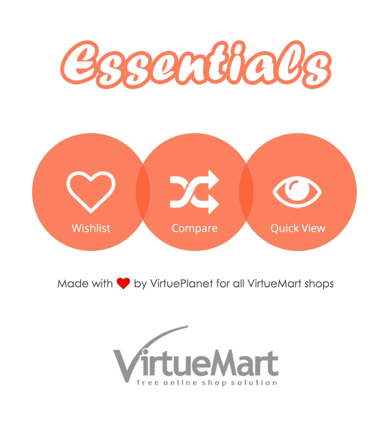 VirtueMart Essentials - Wishlist, Compare and Quick View Extension