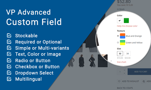VP Advanced Custom Field for VirtueMart
